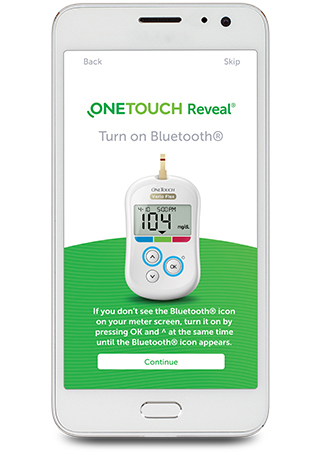 OneTouch Reveal® Turn on Bluetooth®