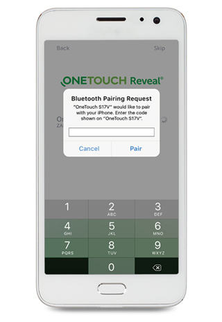 OneTouch Reveal® Pair meter to compatible device