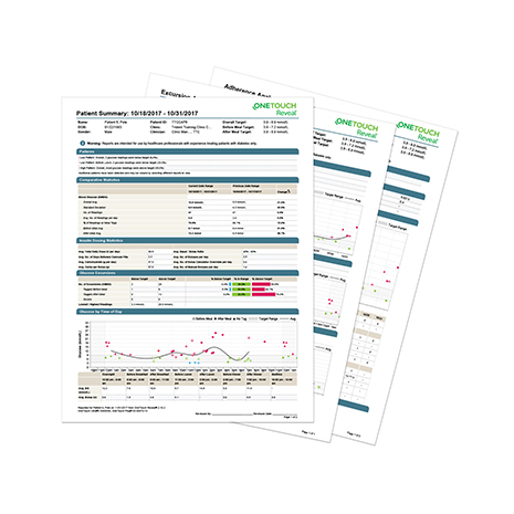 Make more informed treatment decisions than with a paper log book